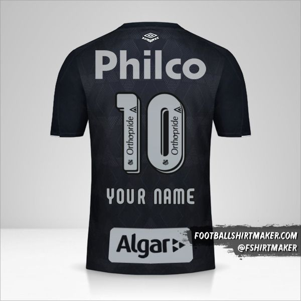 Santos FC jersey 2019/20 III number 10 your name