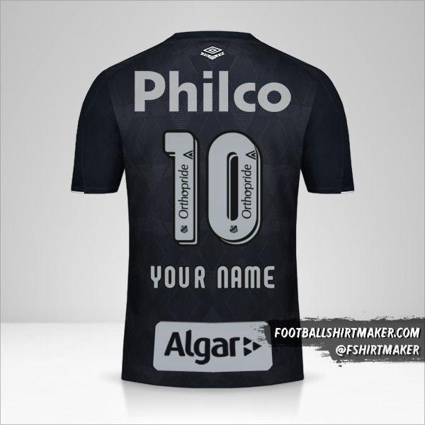 Santos FC 2019/20 III jersey number 10 your name