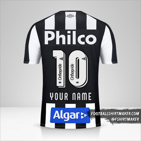 Santos FC 2019 II jersey number 10 your name