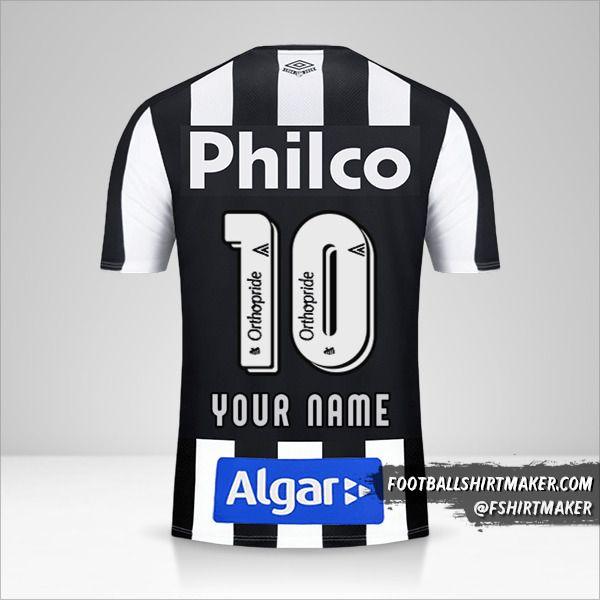 Santos FC 2019 II jersey number 10 your name