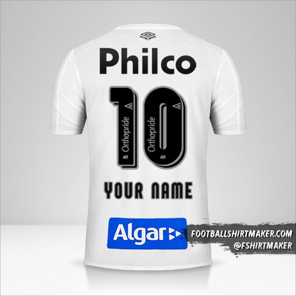 Santos FC 2019 jersey number 10 your name