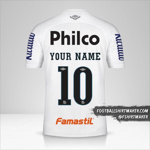 Santos FC Libertadores 2020 jersey number 10 your name