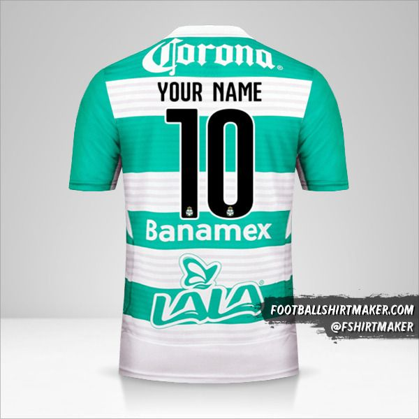 Santos Laguna 2015/16 jersey number 10 your name