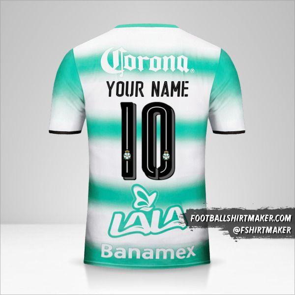 Santos Laguna 2016/17 jersey number 10 your name