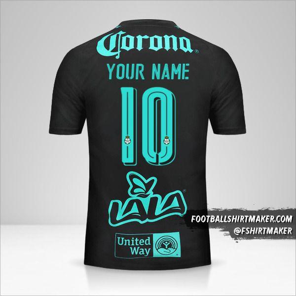 Santos Laguna 2017/18 II jersey number 10 your name