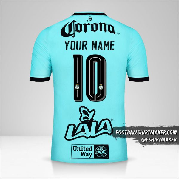 Santos Laguna 2017/18 III jersey number 10 your name