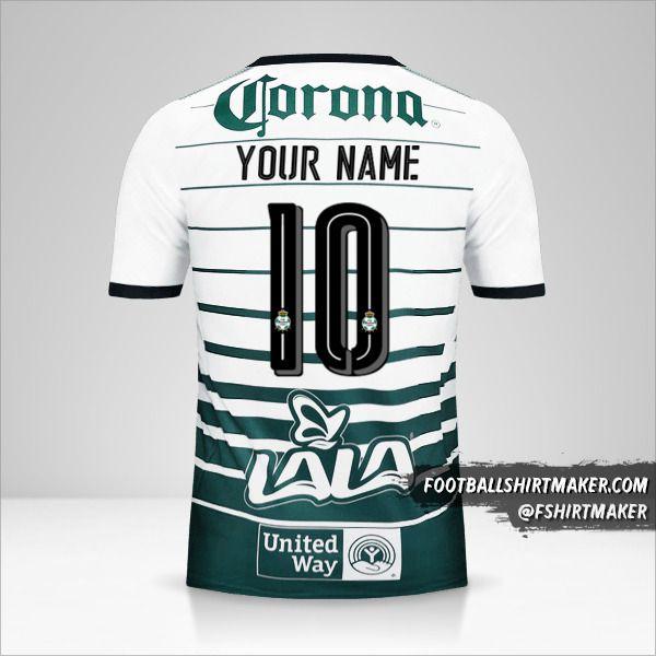 Santos Laguna 2017/18 jersey number 10 your name