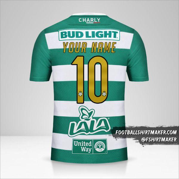 Santos Laguna 2018/19 jersey number 10 your name