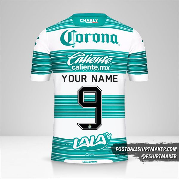 Santos Laguna 2020/21 jersey number 9 your name