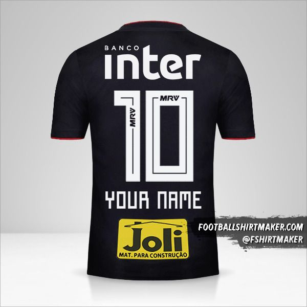 Sao Paulo FC 2018 II jersey number 10 your name