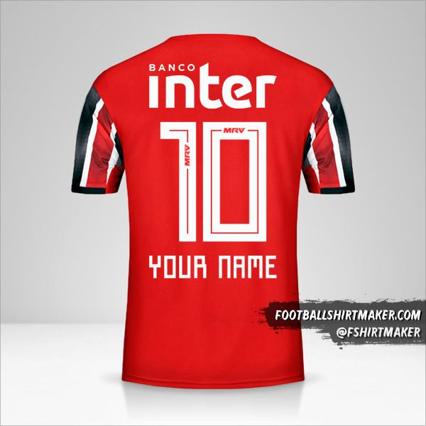 Sao Paulo FC 2019/20 II jersey number 10 your name