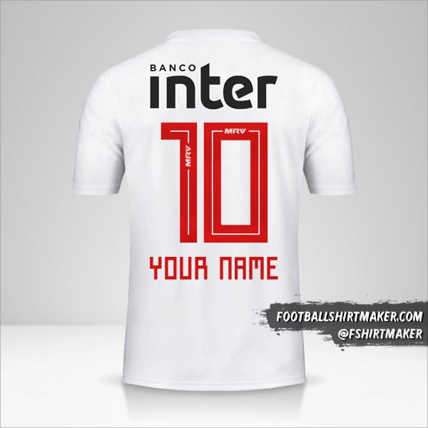 Sao Paulo FC 2019/20 jersey number 10 your name