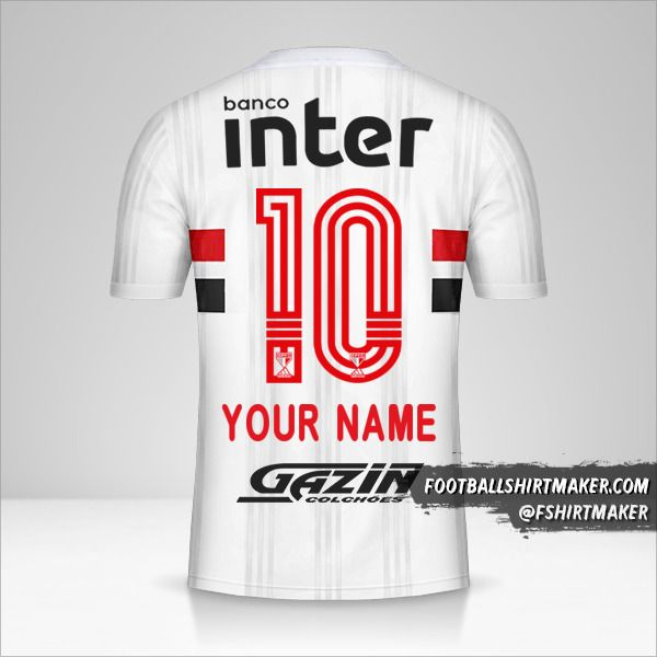 Sao Paulo FC 2020/21 jersey number 10 your name