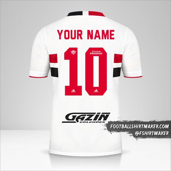 Sao Paulo FC 2021 jersey number 10 your name