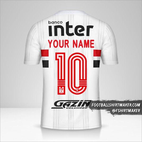 Sao Paulo FC Libertadores 2020 jersey number 10 your name