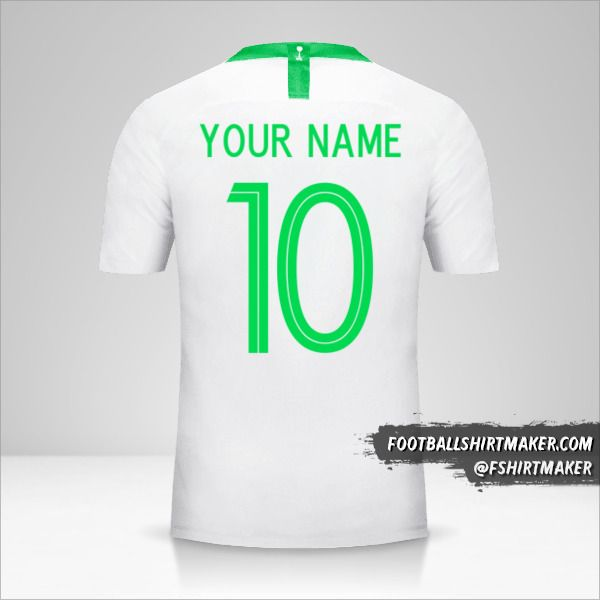 Saudi Arabia 2018 jersey number 10 your name