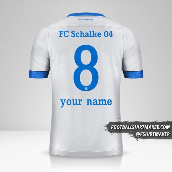 Schalke 04 2018/19 II jersey number 8 your name