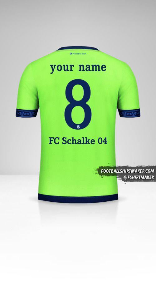 Schalke 04 2018/19 Cup III jersey number 8 your name