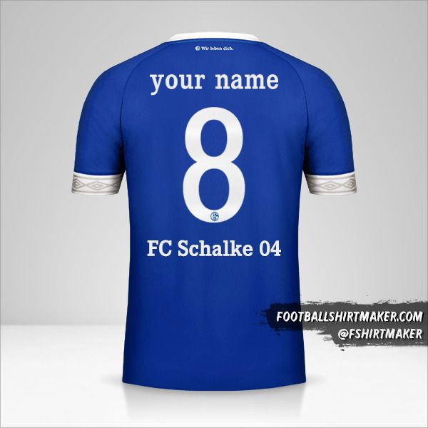 Schalke 04 2018/19 Cup jersey number 8 your name
