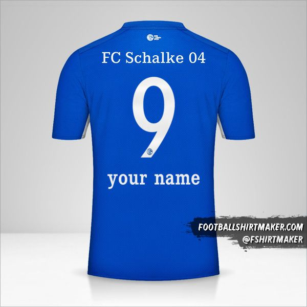 Schalke 04 2021/2022 jersey number 9 your name