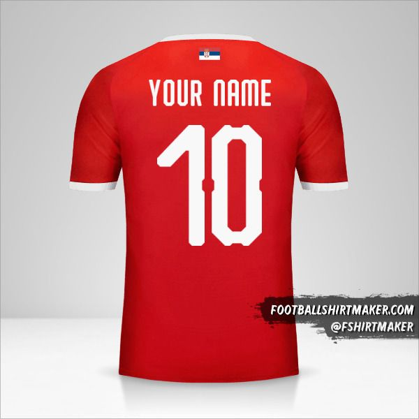 Serbia 2018 jersey number 10 your name