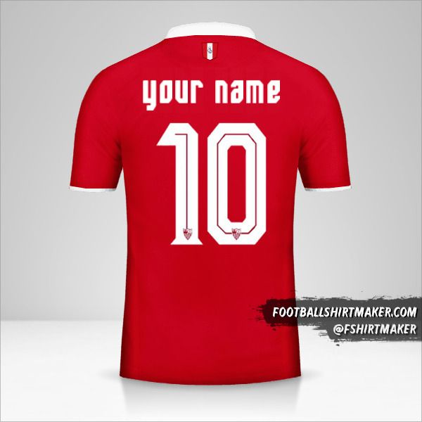 Sevilla FC 2016/17 II jersey number 10 your name