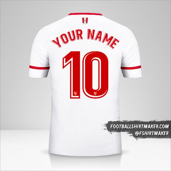 Sevilla FC 2017/18 jersey number 10 your name