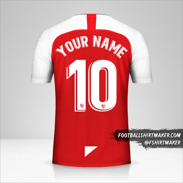 Sevilla FC 2019/20 II jersey number 10 your name