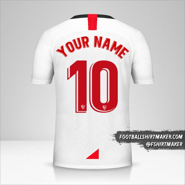 Sevilla FC 2019/20 jersey number 10 your name