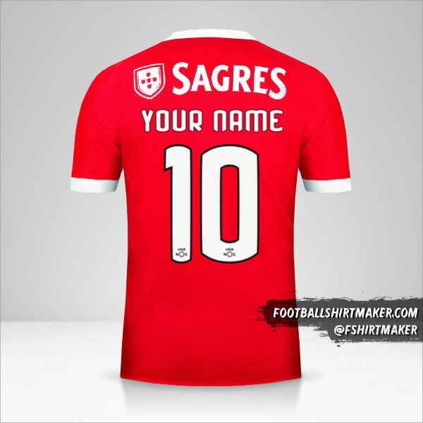 SL Benfica 2017/18 jersey number 10 your name
