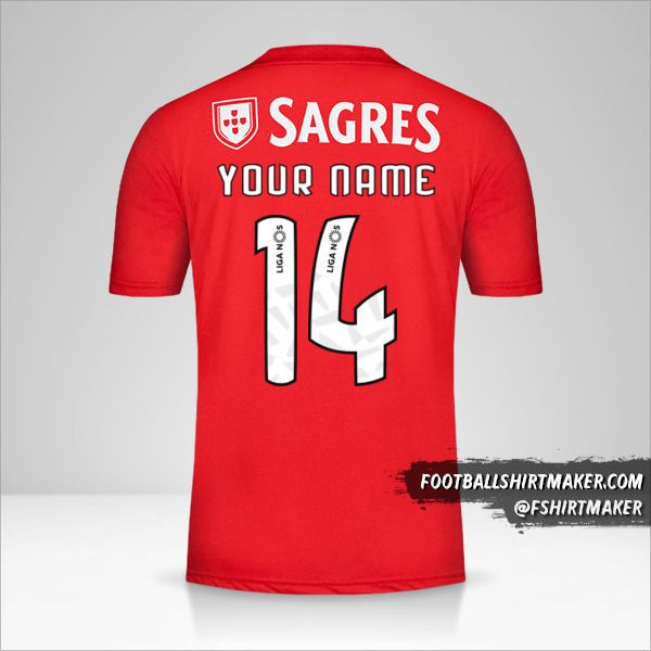 SL Benfica 2018/19 jersey number 14 your name