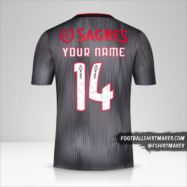 SL Benfica 2019/20 II jersey number 14 your name