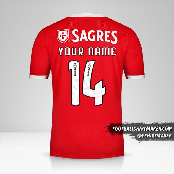 SL Benfica 2019/20 jersey number 14 your name