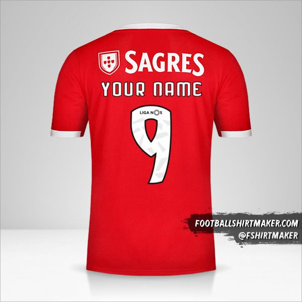 SL Benfica jersey 2019/20 number 9 your name