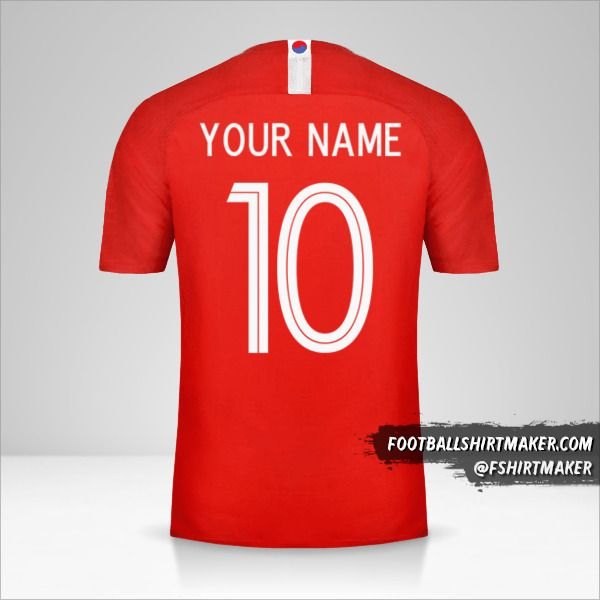 South Korea 2018 jersey number 10 your name