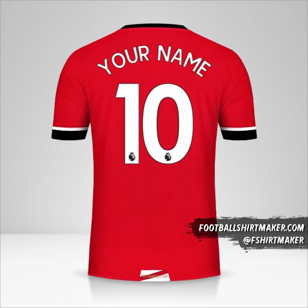 Southampton FC 2020/21 jersey number 10 your name