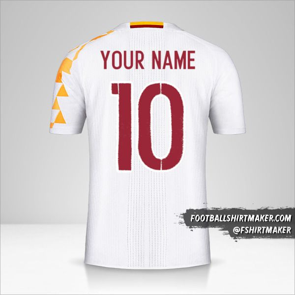 Spain 2016 II jersey number 10 your name