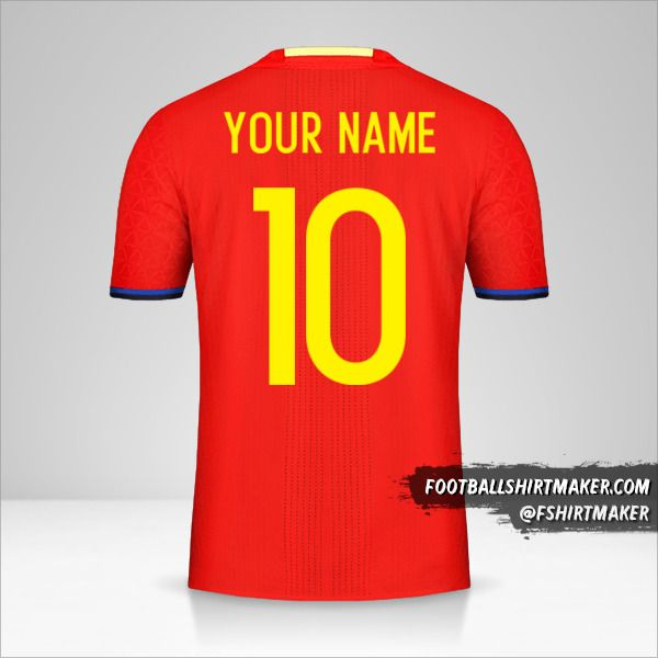 Spain 2016 jersey number 10 your name