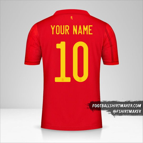 Spain 2020/2021 jersey number 10 your name