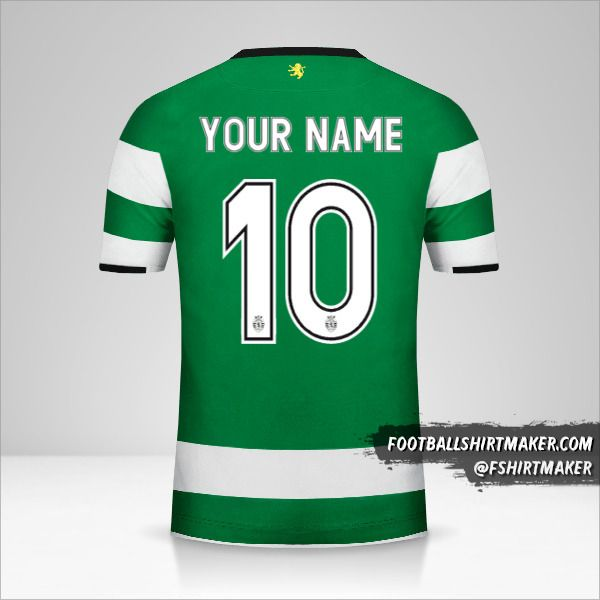 Sporting Clube 2017/18 Cup jersey number 10 your name