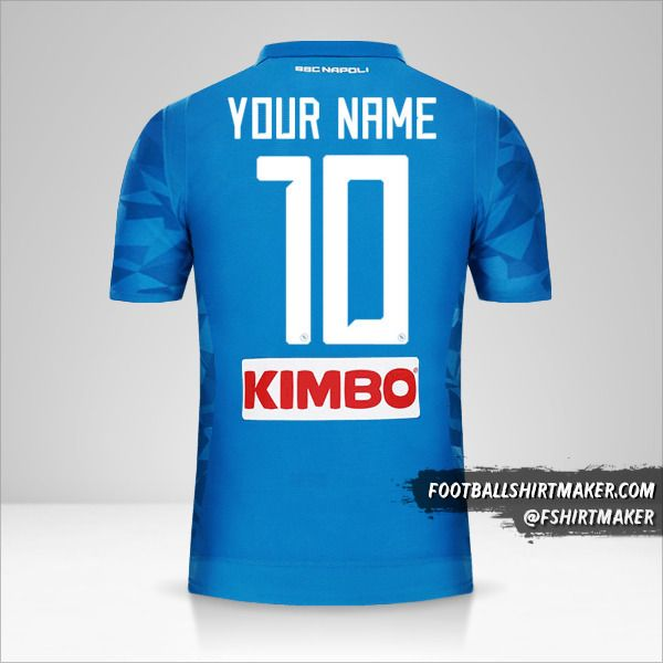 SSC Napoli 2018/19 jersey number 10 your name