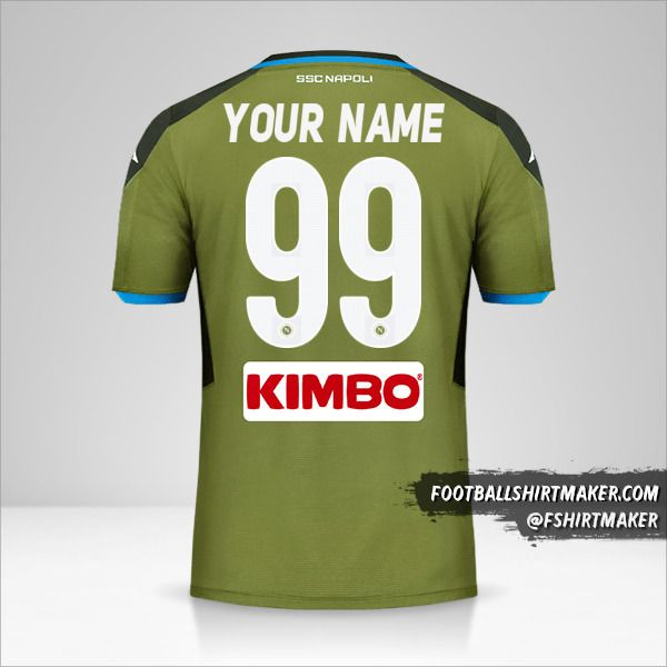 SSC Napoli 2019/20 II jersey number 99 your name