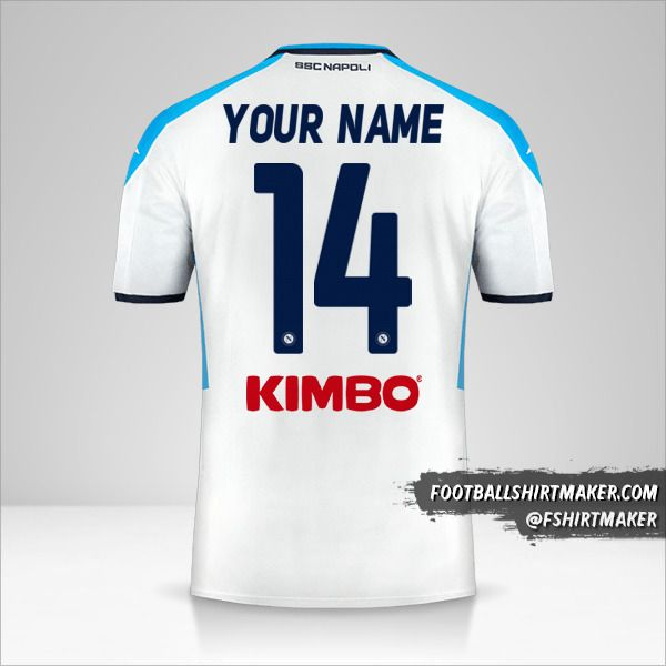 SSC Napoli 2019/20 III jersey number 14 your name