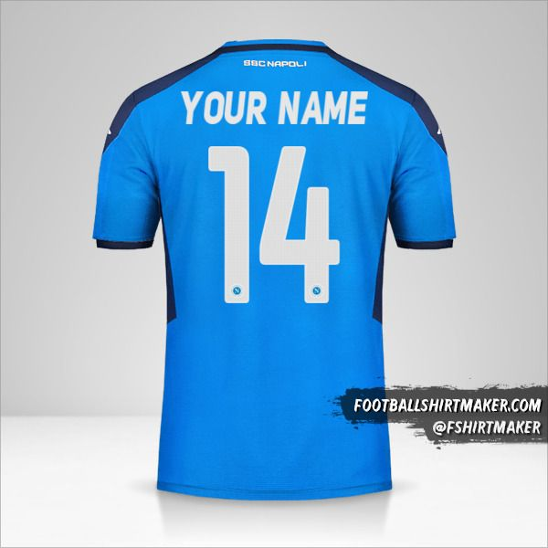 SSC Napoli 2019/20 Cup jersey number 14 your name