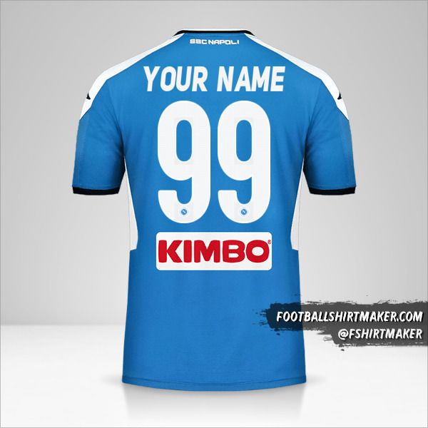 SSC Napoli jersey 2019/20 number 99 your name