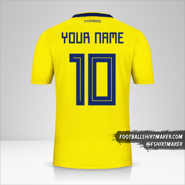 Sweden 2018 jersey number 10 your name