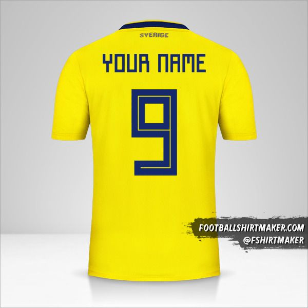Sweden jersey 2018 number 9 your name