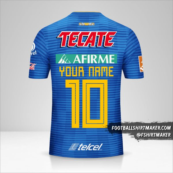 Tigres UANL 2018/19 II jersey number 10 your name