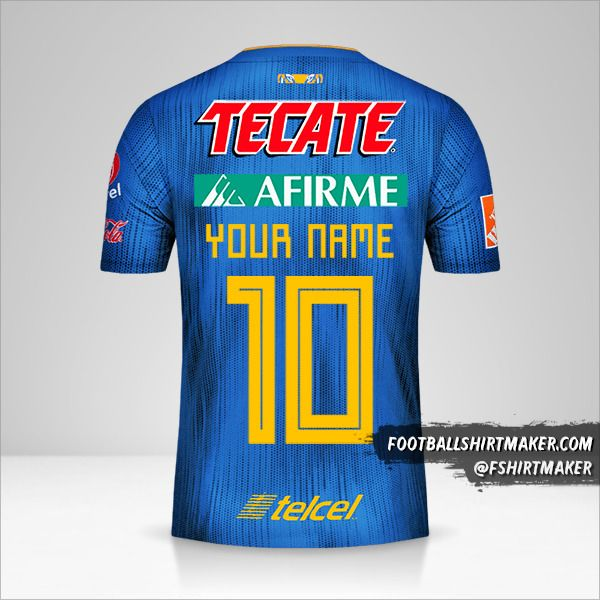 Tigres UANL 2019/20 II jersey number 10 your name