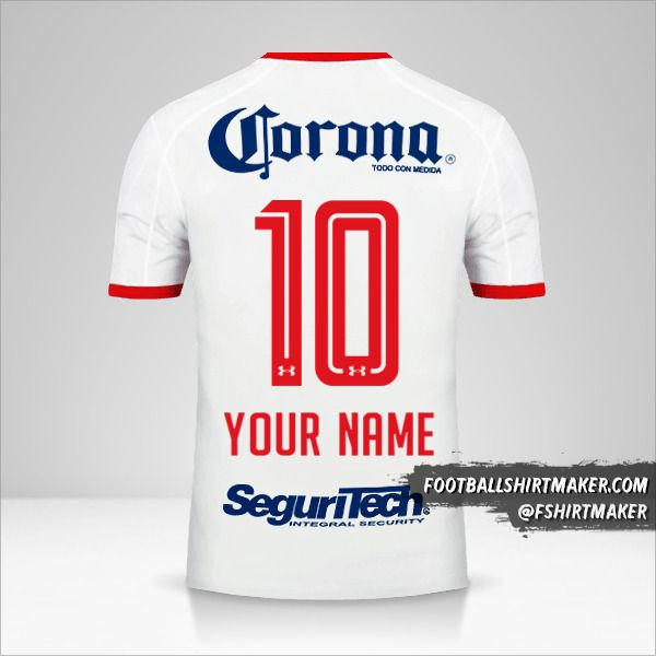 Toluca FC 2017/18 II jersey number 10 your name